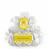 Chevron-Yellow-Baby-Shower-2-Tier-Diaper-Cake