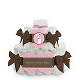Girl-Mommy-Silhouette-Baby-Shower-2-Tier-Diaper-Cake