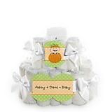 Pumpkin-Baby-Shower-2-Tier-Diaper-Cake