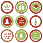 Free Christmas Label Printables