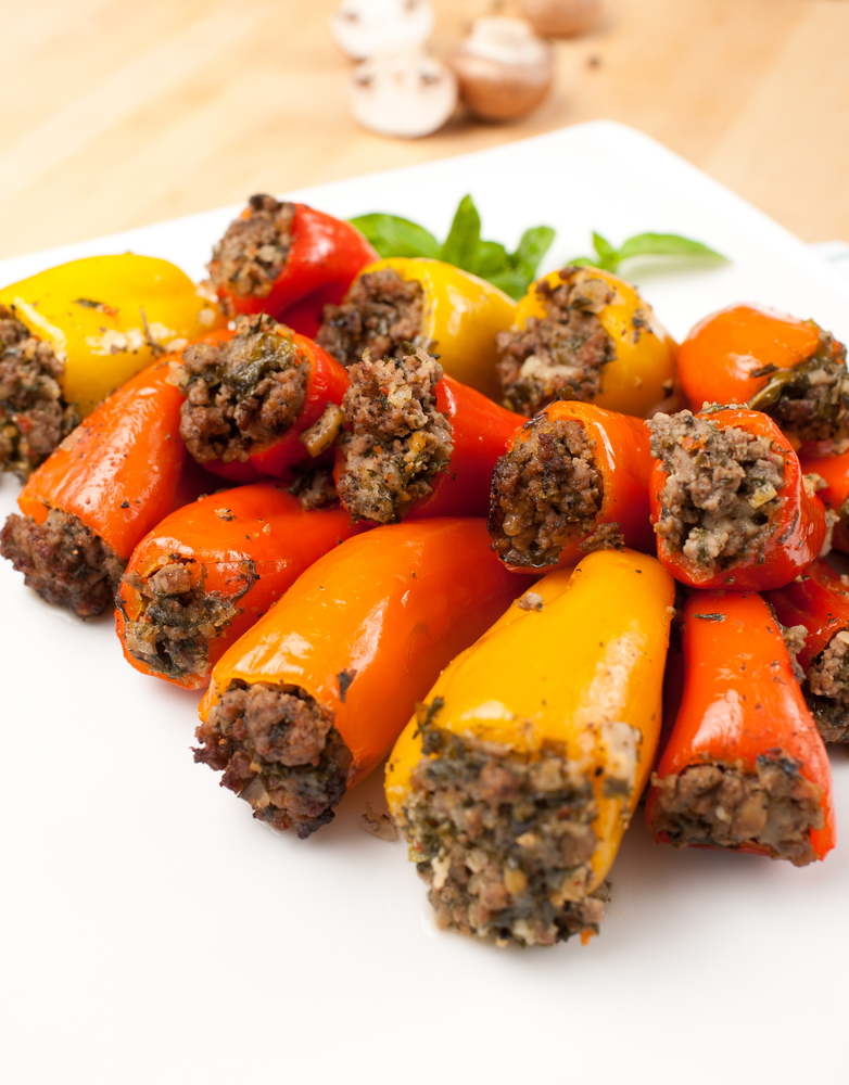 Beef & Vegetables Stuffed Mini Bell Peppers