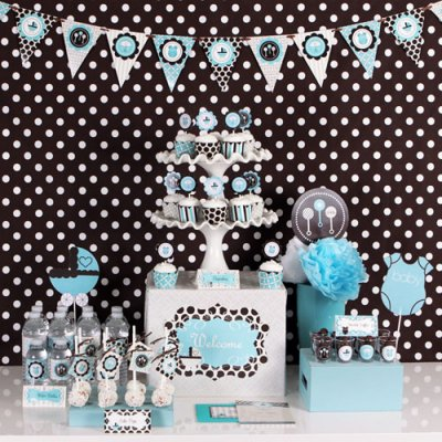Baby shower theme ideas for boys baby shower ideas for Baby boy shower decoration kits