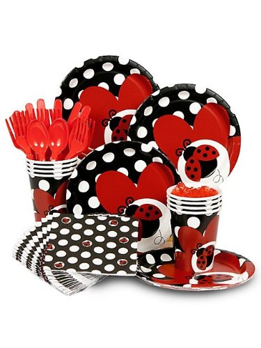 Ladybug Themed Baby Shower Tableware Supplies Ladybug Themed Baby Shower  Tableware Supplies ...