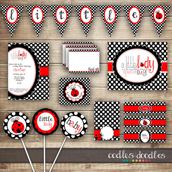 ladybug baby shower party package baby girl shower baby shower party