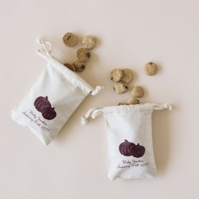 Natural Cotton Baby Shower Favor Bag