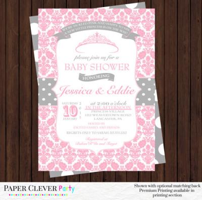 princess baby shower invitation girl baby shower invites baby