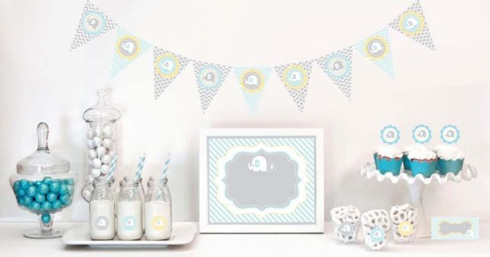 elephant baby shower kit