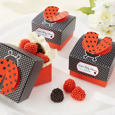 ... Personalized D Wing Ladybug Favor Boxes Ladybug. Ladybug Themed Baby  Shower Game