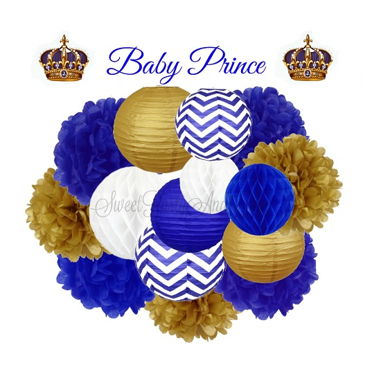 Baby Shower Prince Decoration Hanging Decoration