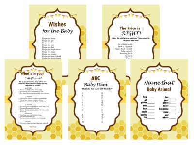 ncr label templates - what will it bee themed baby shower ideas baby shower