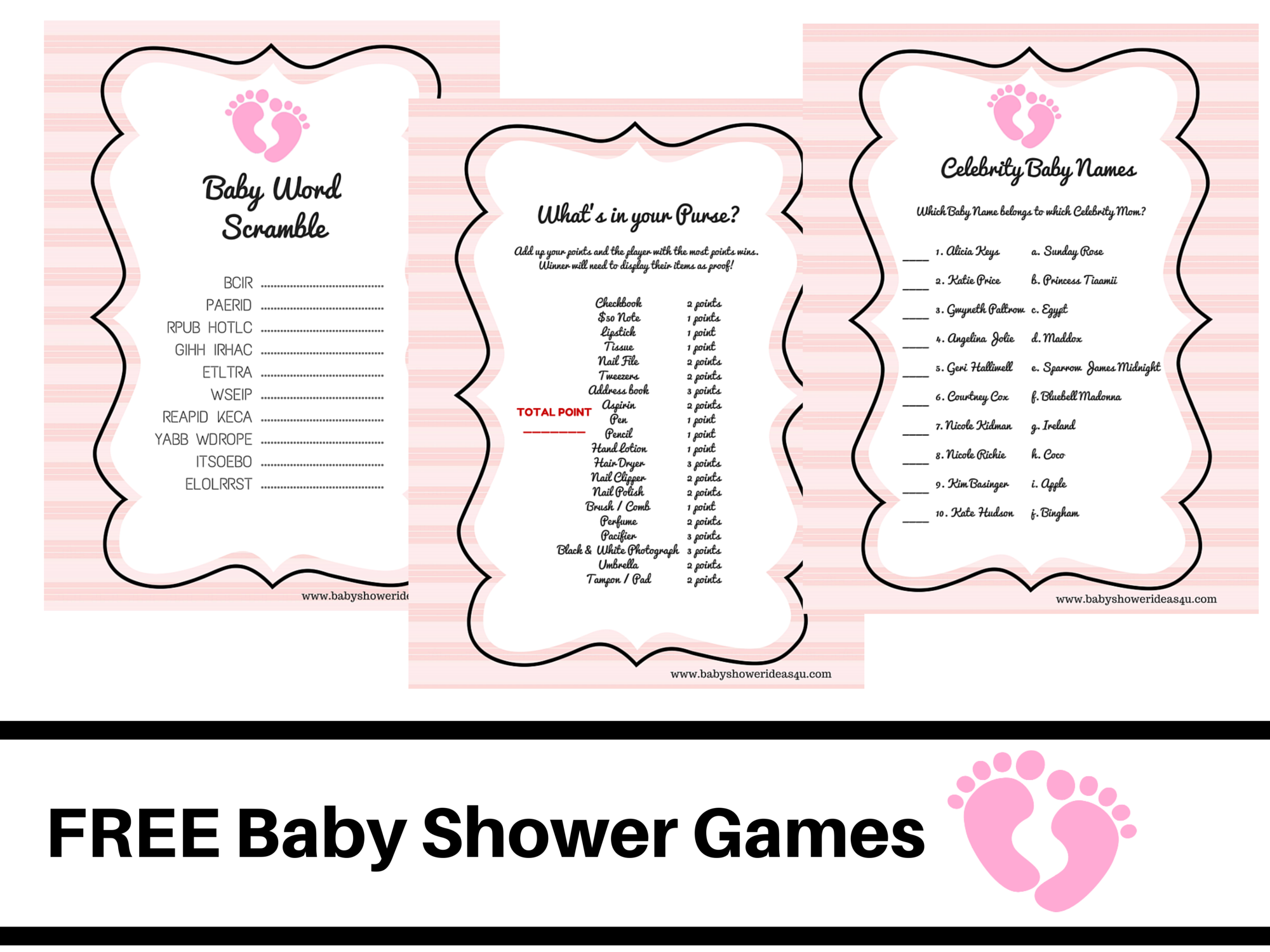 free printable baby shower games baby word scramble baby celebrity