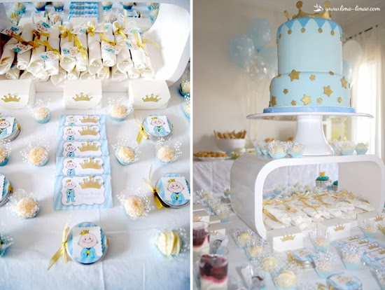 Prince Baby Shower Decoration Ideas, Cakes