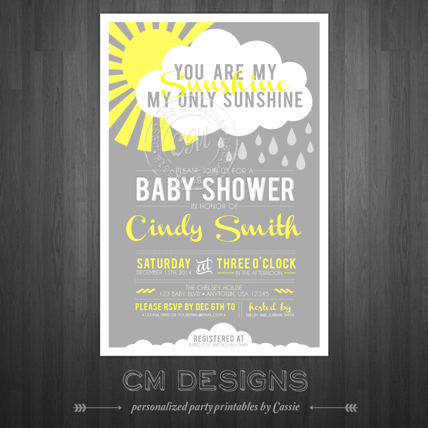 you are my sunshine baby shower invite baby shower ideas themes