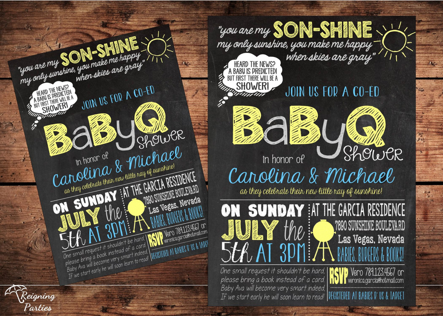 You Are My Sunshine Baby Shower Invitation For A Boy