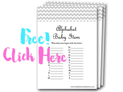 alphabet-baby-item free baby shower games