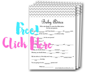 baby advice mad libs, free baby shower game
