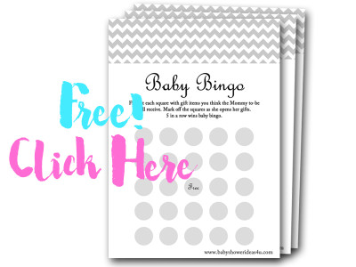 baby-gift-bingo, free baby shower games