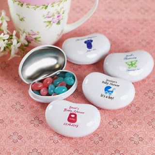 baby shower jelly tins