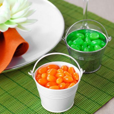 baby shower pails favor tins for jelly beans
