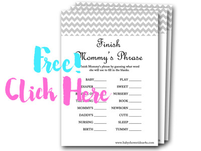 finish-mommys-phrase, free baby shower games