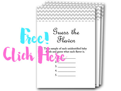 guess-the-flavor, free baby shower games