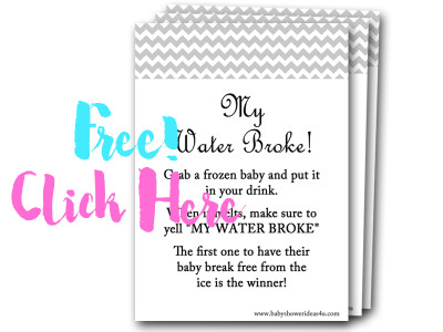 My Water Broke, Free Baby Shower Games