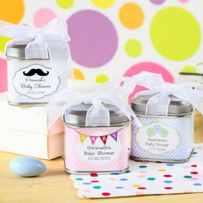 personalized-baby-shower-favor-tins-in different themes