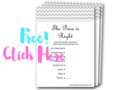 price-is-right, free baby shower games