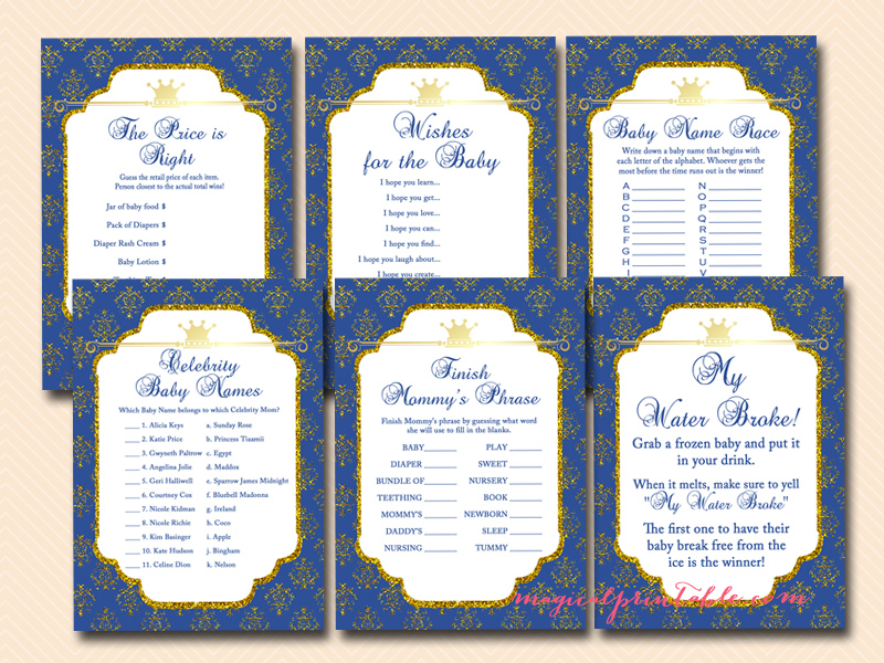 prince baby shower game printables, royal prince baby shower games ...