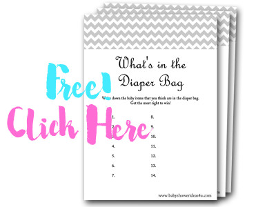 whats-in-the-diaper-bag, free baby shower games