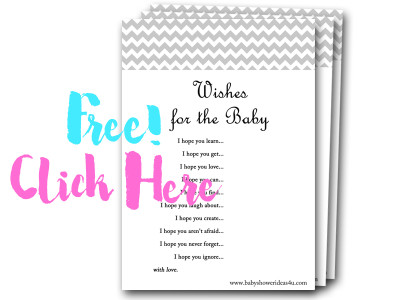 wishes-for-the-baby free baby shower games