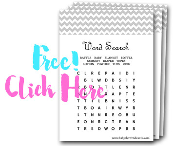 Prepare A Customized Word Search Puzzle Or Board By Hiding Baby Related  Words In A Grid Of Letters Horizontally, Vertically, And Diagonally.