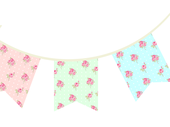 free printable bunting garland banner decorations baby