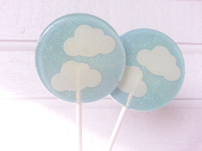 Cloud Baby Shower Lollipops, Baby Shower Favors, Clouds