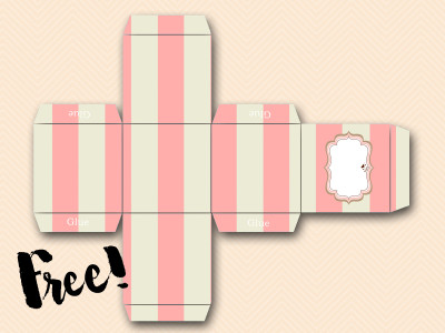 Free Favor Box Pink Baby Shower