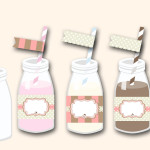 Free Printable Straw Toppers and Bottle Wrappers