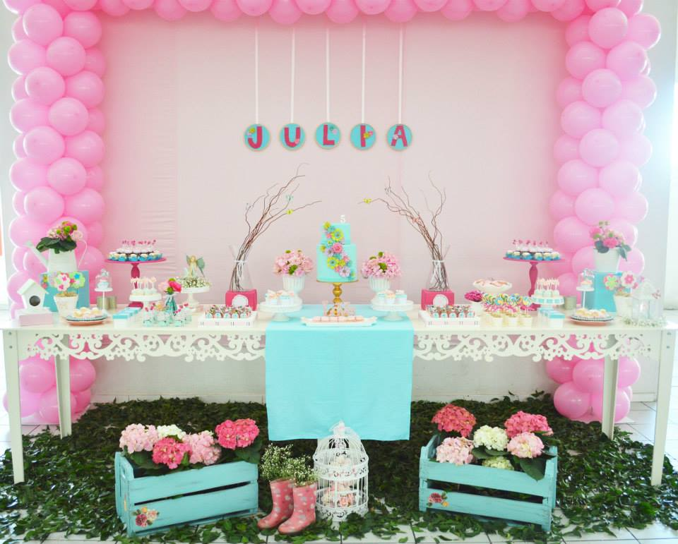 Enchanted garden baby shower baby shower ideas themes for Baby shower decoration themes for girls