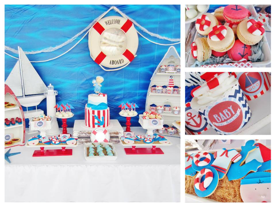 sailor boat baby shower decorations nautical showre pictures