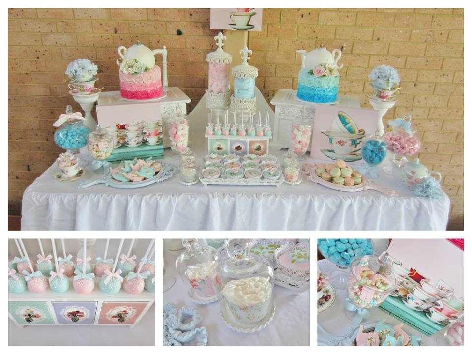 high tea baby shower ideas