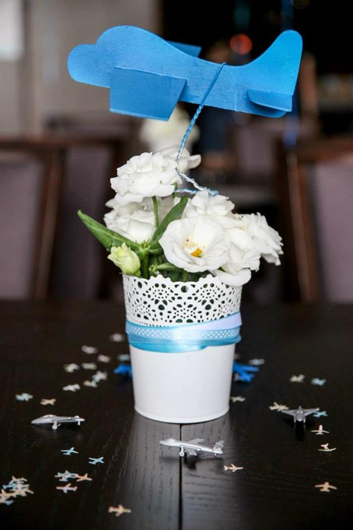 Airplane themed baby shower ideas and