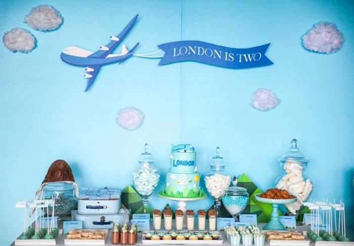 Airplane themed baby shower ideas baby shower ideas and for Airplane decoration