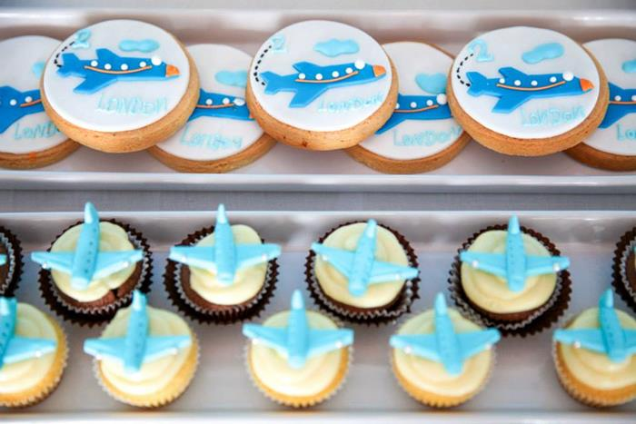 ... Airplane Themed Baby Shower Ideas Airplane Check In Luggage Decoration  ...