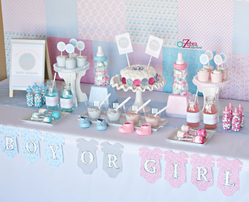 gender reveal baby shower ideas