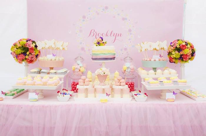 Butterfly themed baby shower party baby shower ideas and for Baby shower decoration butterfly