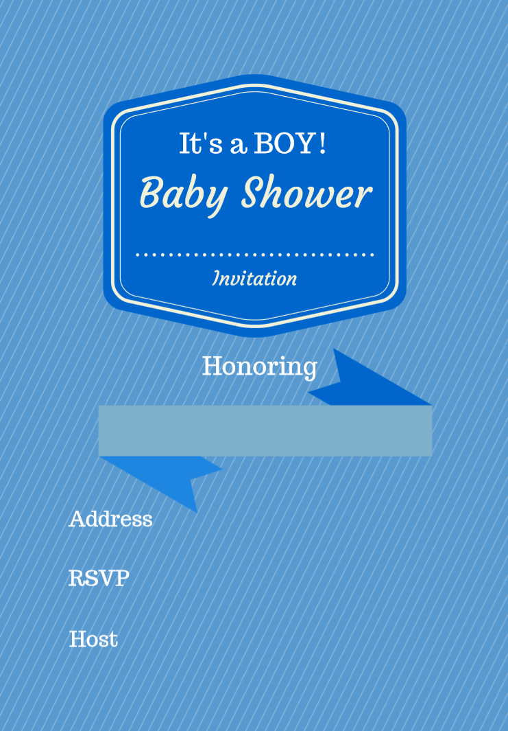 Free Printable Baby Shower Invitation Boy