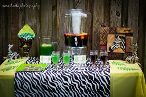 ... Jungle Baby Shower Drinks ...
