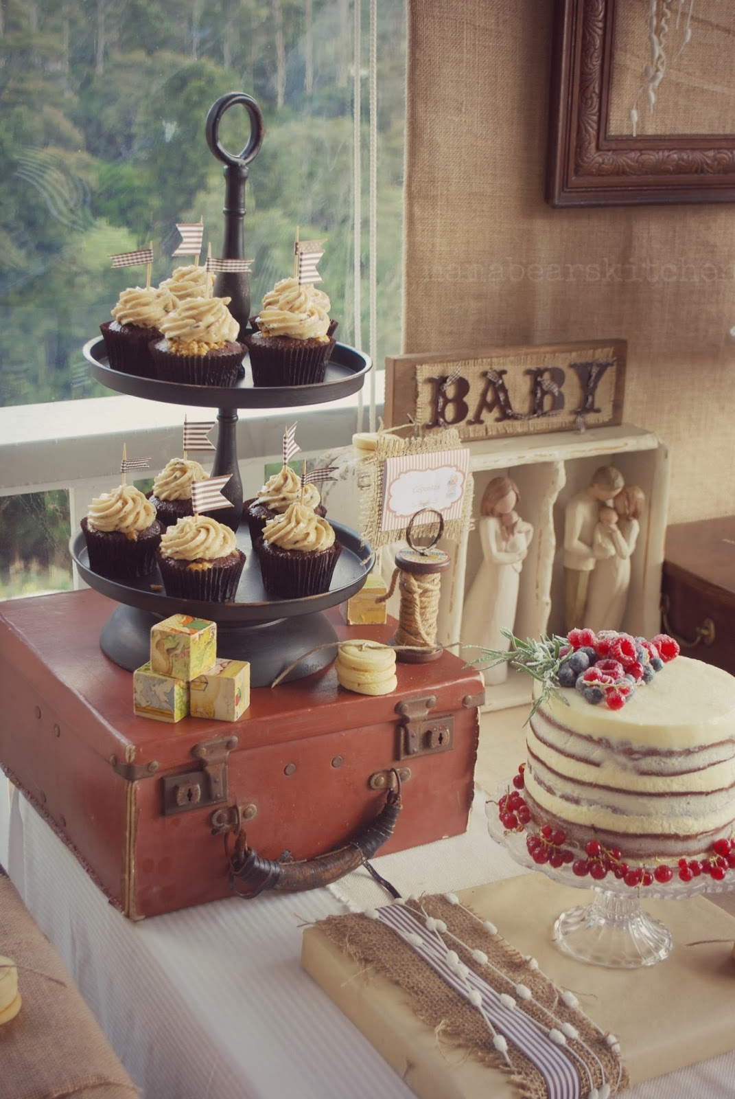burlap and lace baby shower - baby shower ideas