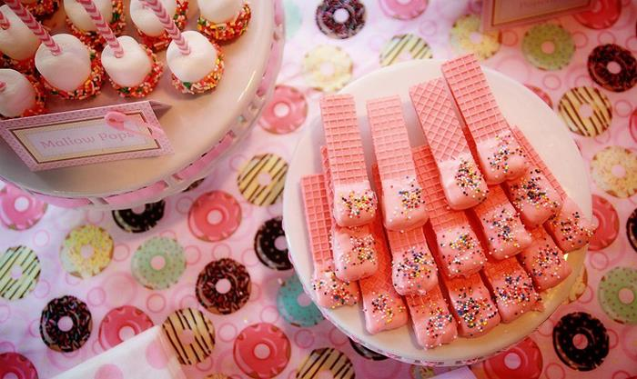 pink desserts for baby shower pink sprinkle baby shower ideas baby