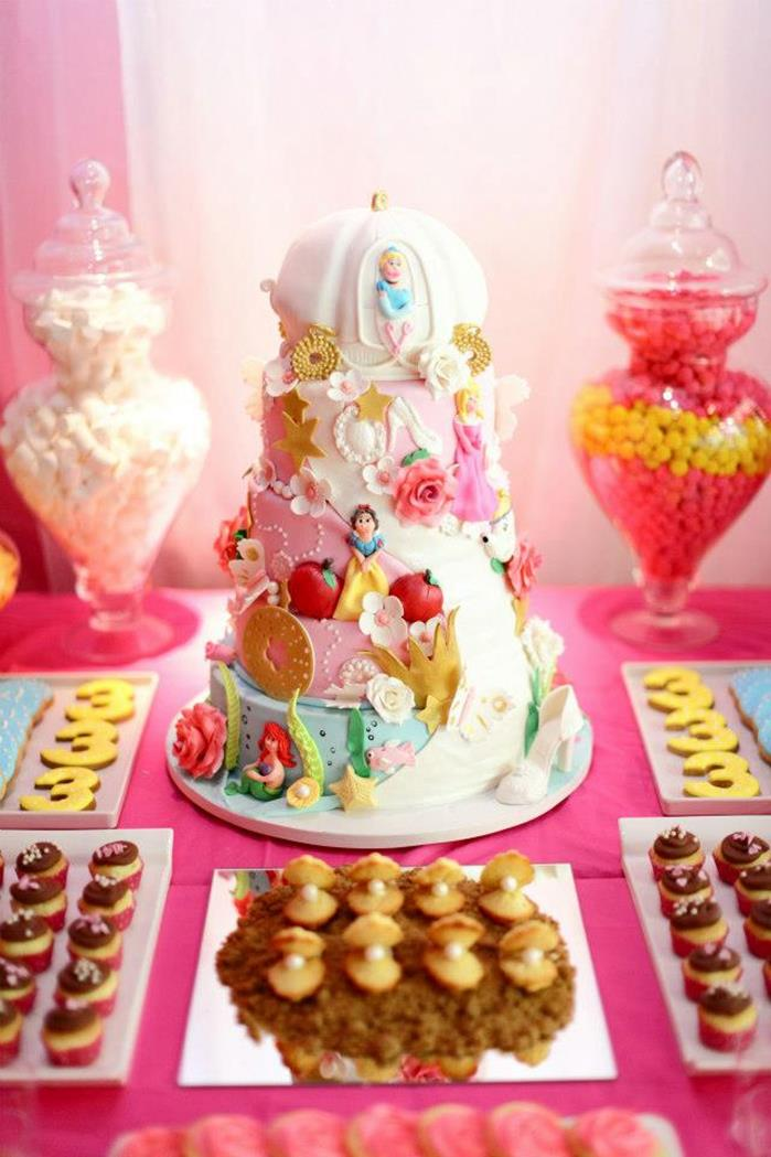 Pink fairytale princess party baby shower ideas themes for Princess birthday party crafts