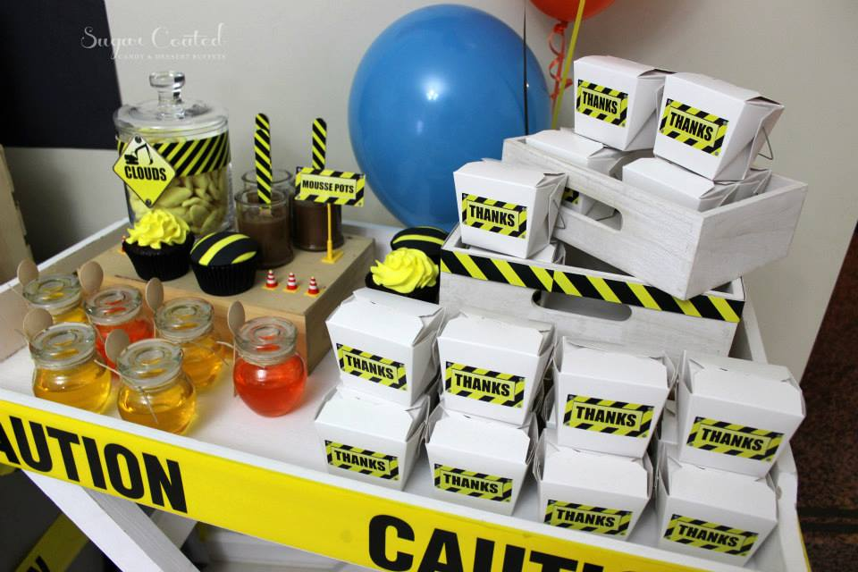 Construction Site Theme Party Baby Shower Ideas